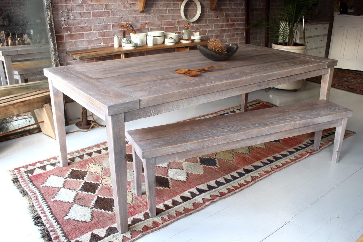 sticks and bricks farm table with breadboards
