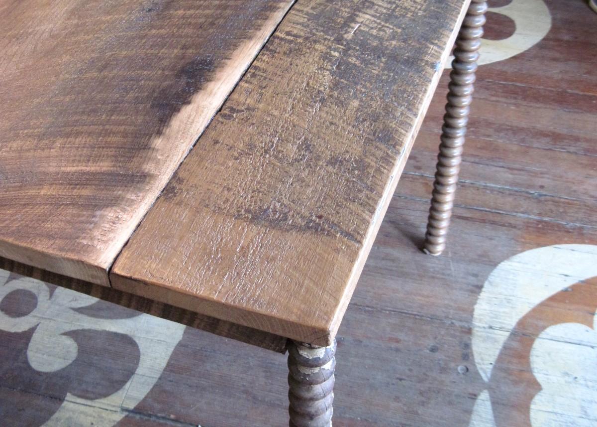 Sticks and Bricks northampton custom 1 inch farm table