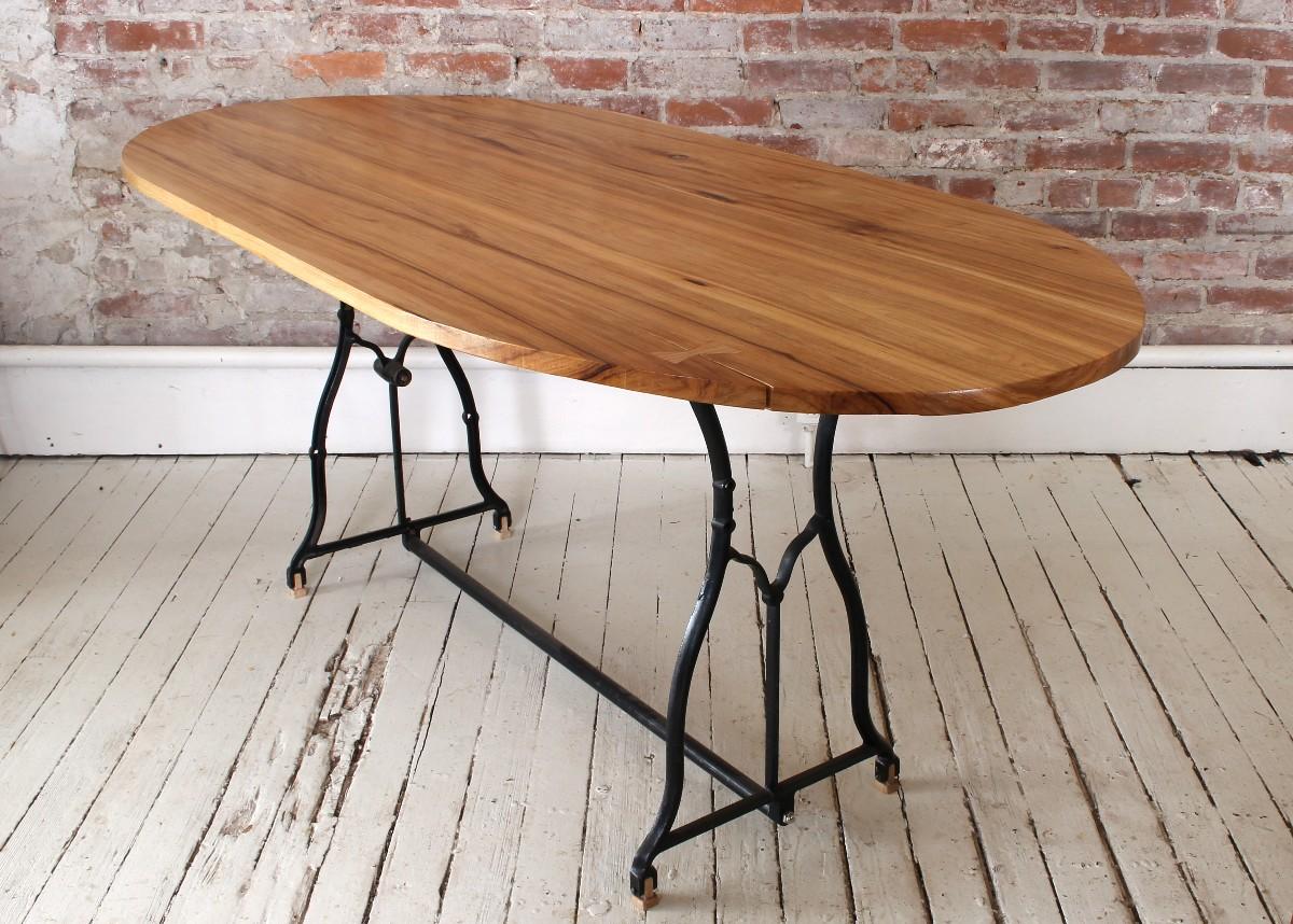 sticks & bricks custom furniture hickory trestle table