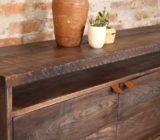 sticks and bricks custom design custom furniture oak and leather credenza