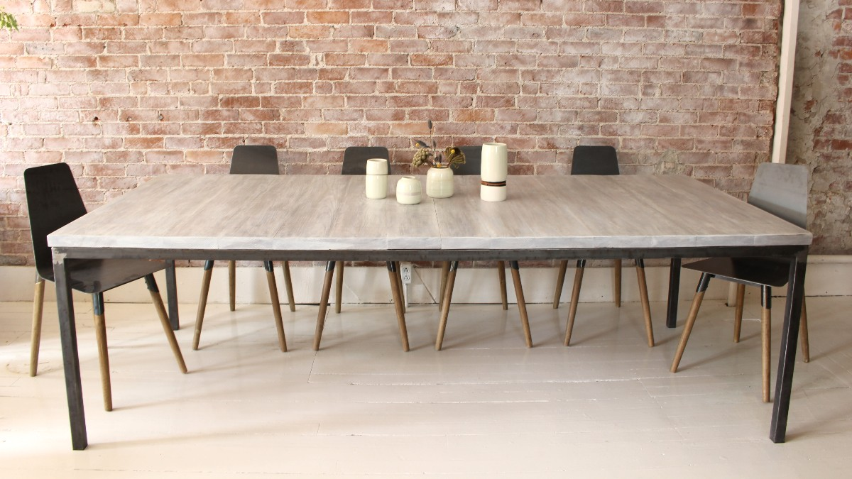 sticks and bricks steel tube dining table