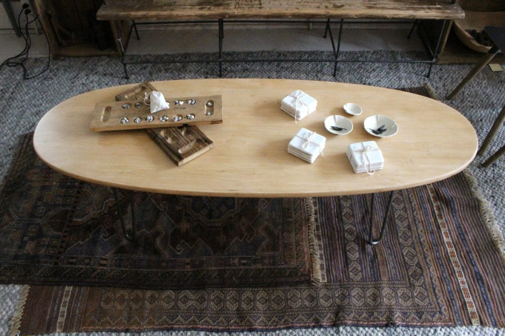 Sticks and Bricks- Contemprary Oval Coffee Table