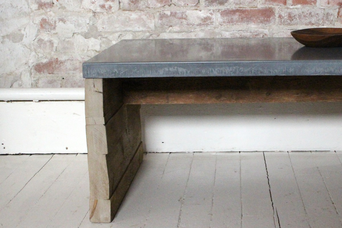 sticks and bricks concrete coffee table
